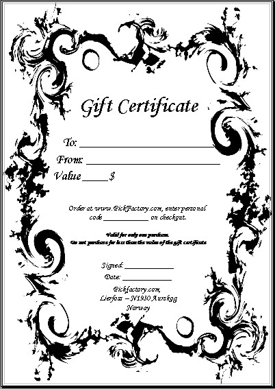 make your own gift certificates printable radiovkmtk - Free Printable Photography Gift Certificate Template